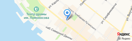 Колумб на карте Архангельска