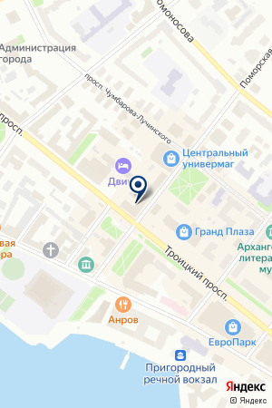 Контора - юридические услуги на карте Архангельска