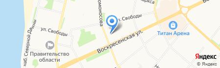 Янтарь на карте Архангельска