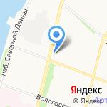 Средняя школа №23 им. А.С. Пушкина на карте Архангельска