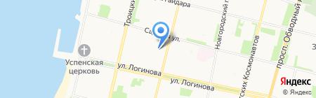 Азиза на карте Архангельска