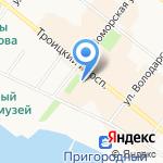 Северное Управление государственного морского и речного надзора на карте Архангельска
