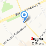 Акон на карте Архангельска