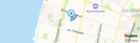 Детский сад №135 Дюймовочка на карте Архангельска