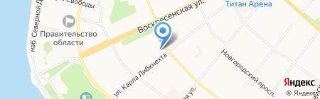 Турактив на карте Архангельска