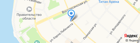 Эксклюзи на карте Архангельска