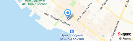 Викторика на карте Архангельска