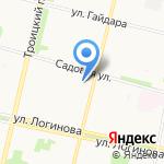 Иголочка на карте Архангельска