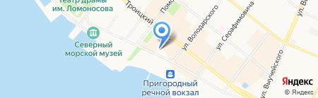 Адвокатские кабинеты Шариной А.В. и Голанцевой П.В. на карте Архангельска