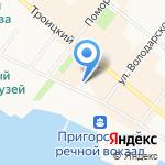 Основа на карте Архангельска