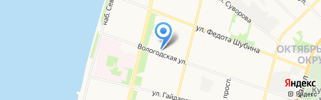 Стоматологическая поликлиника №1 на карте Архангельска