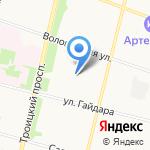 Дюймовочка на карте Архангельска