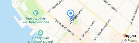 Константа на карте Архангельска
