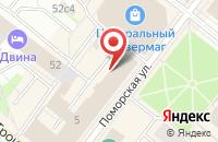 Схема проезда до компании Эники-Бэники в Архангельске