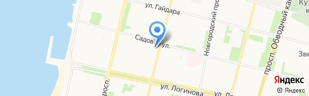 Каргополочка на карте Архангельска