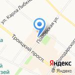 Бис на карте Архангельска