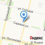 Астрея на карте Архангельска