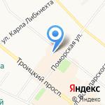 Пункт почтовой связи на карте Архангельска
