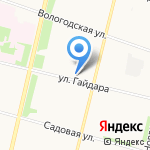 Торос на карте Архангельска