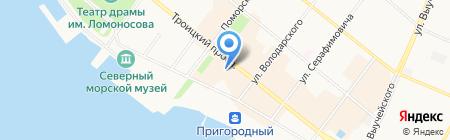 Мещанские штучки на карте Архангельска
