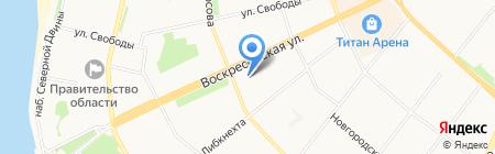 Компьютерный доктор на карте Архангельска