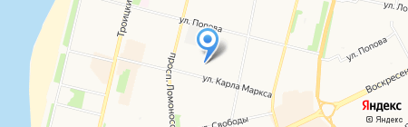 Вилсон-Архангельск на карте Архангельска