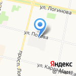 Следственный изолятор №1 на карте Архангельска