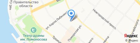Детский сад №147 Рябинушка на карте Архангельска