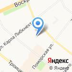 Рябинушка на карте Архангельска