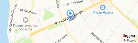Уютный дом на карте Архангельска