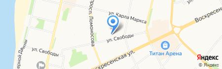 Детский сад №50 Искорка на карте Архангельска