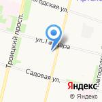Снежинка на карте Архангельска