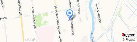 На Полярной на карте Архангельска