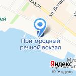 Архангельский речной порт на карте Архангельска