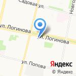 Бухаринъ на карте Архангельска