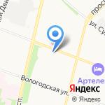 АВФ-книга на карте Архангельска