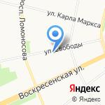 Сбербанк Первый на карте Архангельска