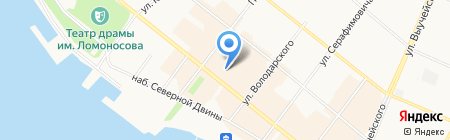 Рио на карте Архангельска