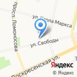 Искорка на карте Архангельска