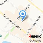 Фотосалон Любови Чаусовой на карте Архангельска