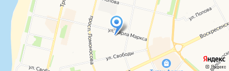 Сникс на карте Архангельска