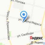 Альфа-Бастион на карте Архангельска