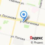 Белый Лебедь на карте Архангельска