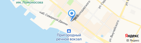 Новая Кухня на карте Архангельска