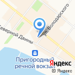 Эль Туристо на карте Архангельска