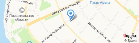 Дом на Соборной на карте Архангельска
