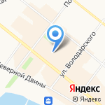 Рив Гош на карте Архангельска