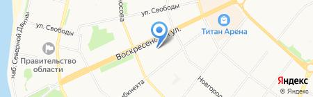 Веселая Затея на карте Архангельска