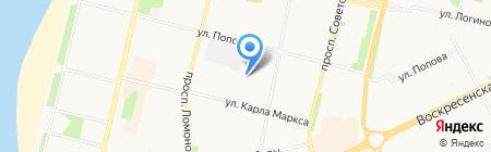 Архангельский социально-реабилитационный центр для несовершеннолетних на карте Архангельска