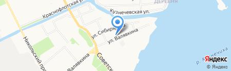 Восточный дворик на карте Архангельска